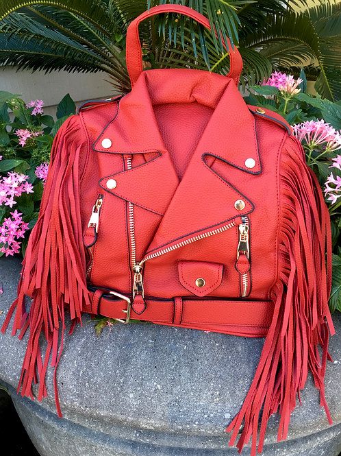 Jacket Fringe Backpack