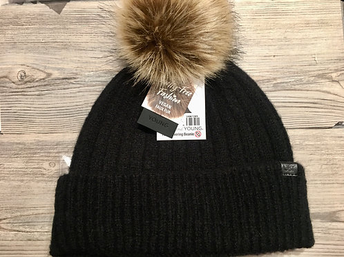 Knit Beanie with Face Mask