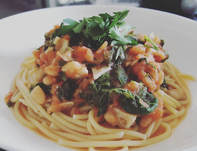 Cannellini Bean Pasta with Spinach & Tomato