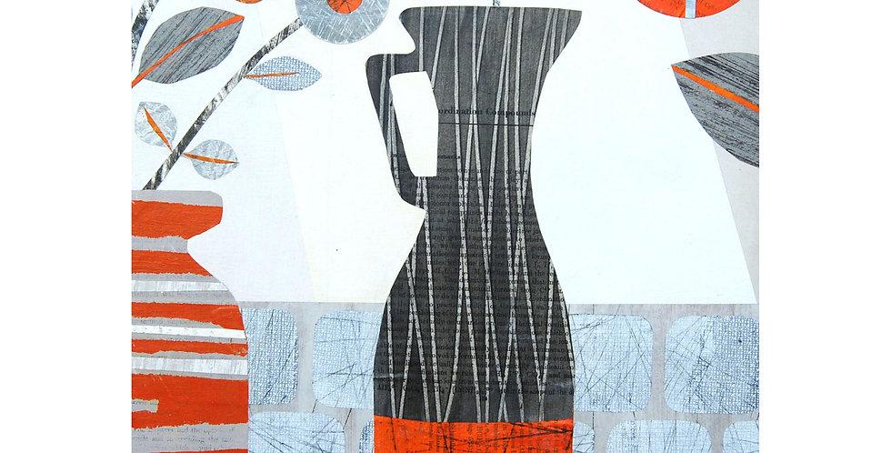 Tall Grey Vase