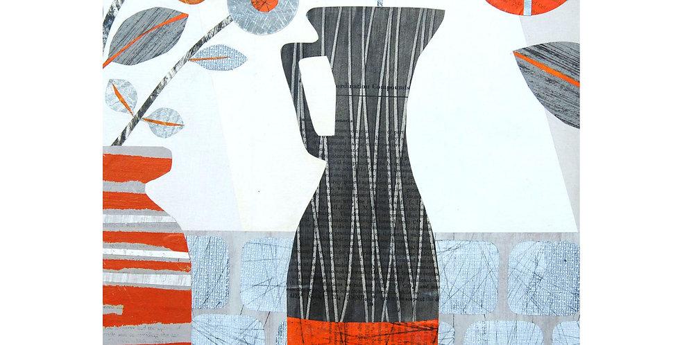 Tall Grey Vase card