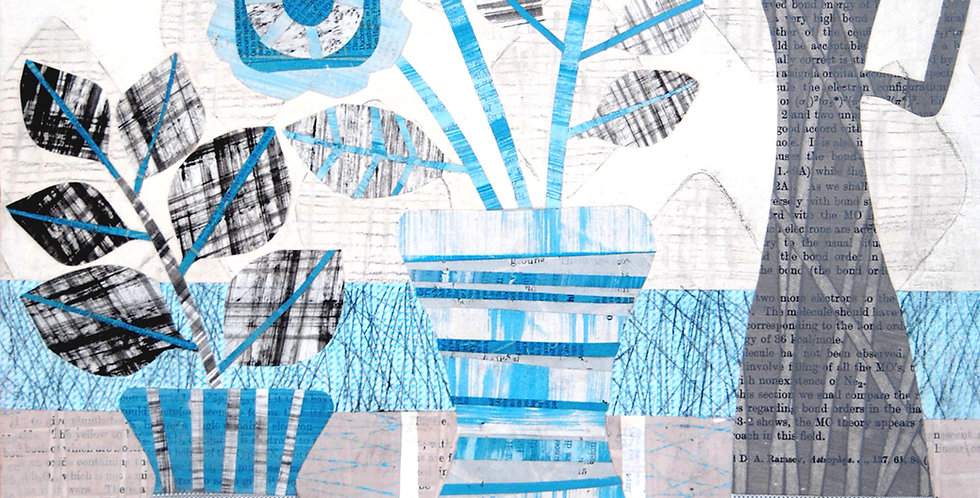 Blue Trio Print