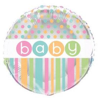 """Balloon Foil 18"""" Birthday Stripe"""