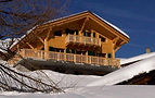 Chalet view from below
