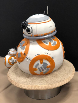 """BB8"" SCULPTED CAKE"