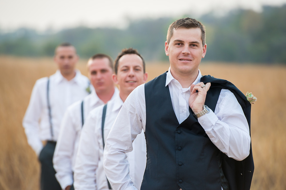 Groom and groomsman photos