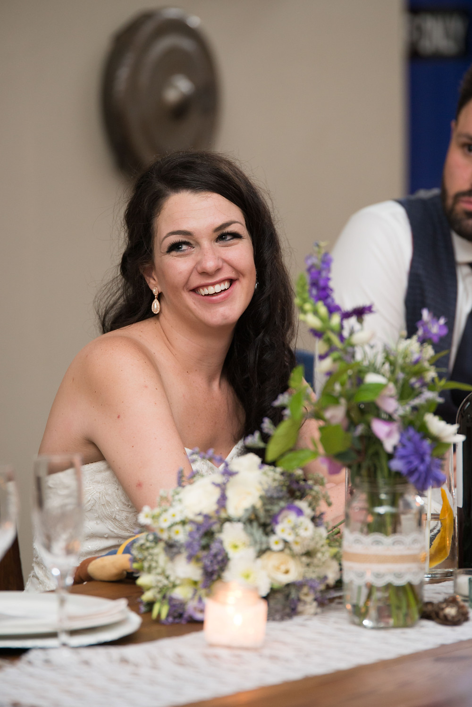a brides smile