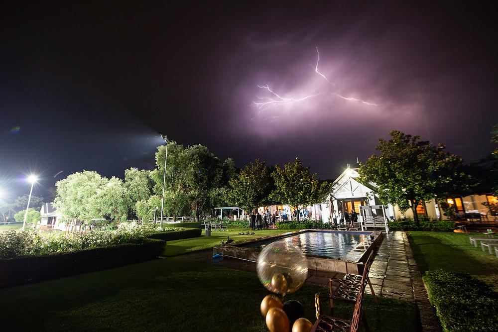 lightning storm in Johannesburg