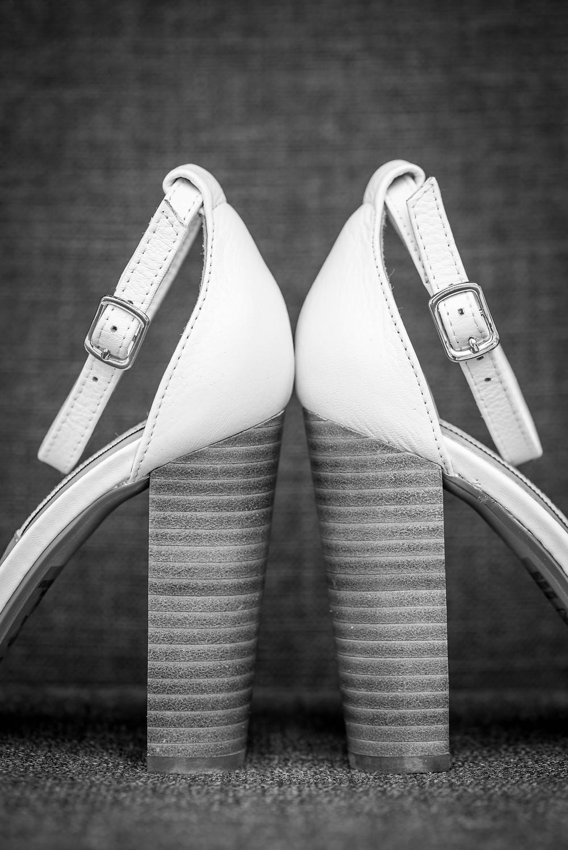 artistic wedding shoe photos