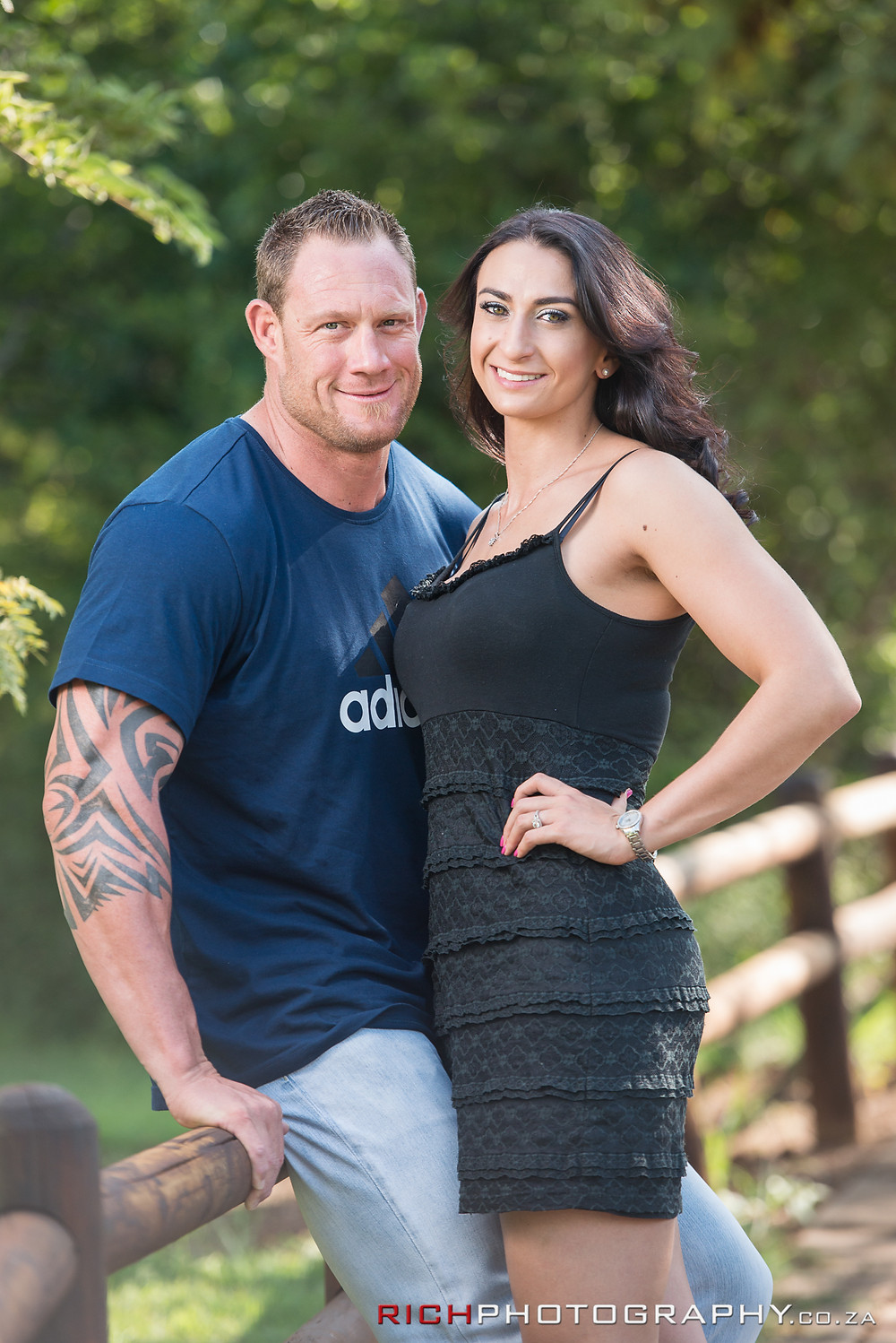 Fit couple pre-wedding shoot