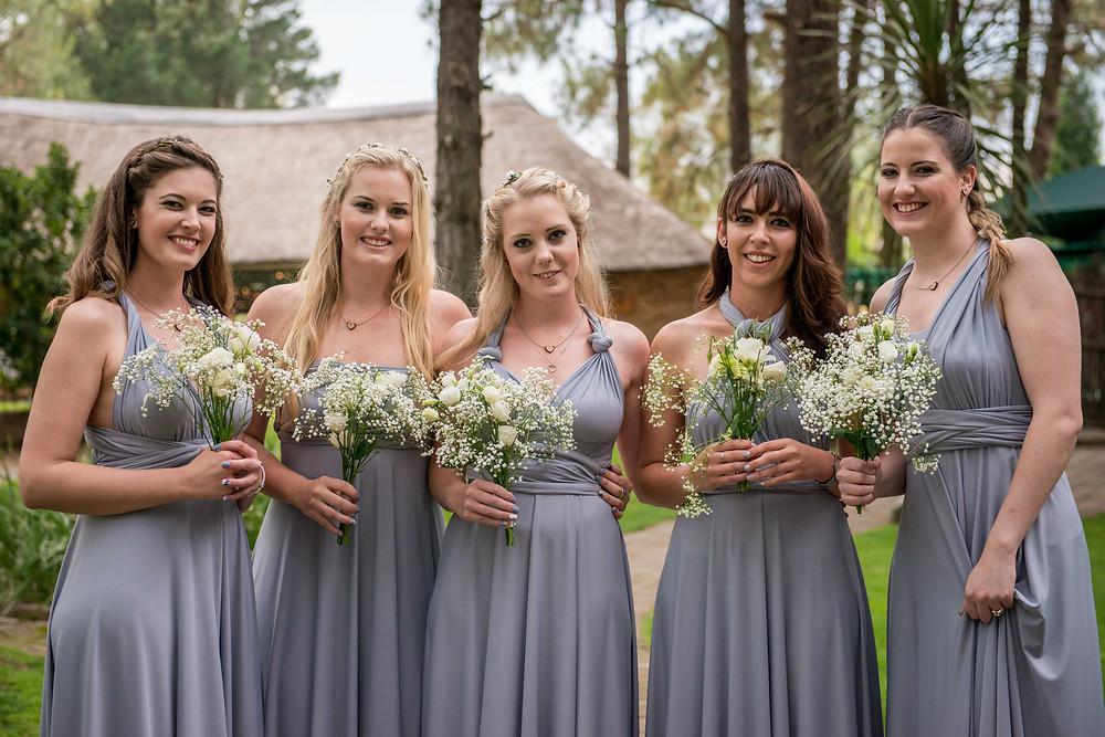 Bridesmaid wrap dresses