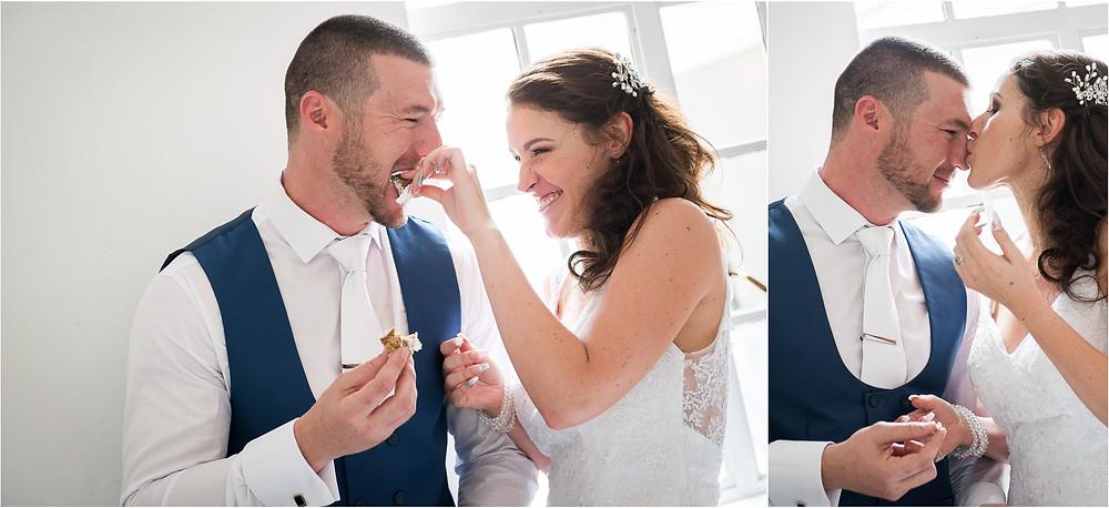 cute wedding cake moments
