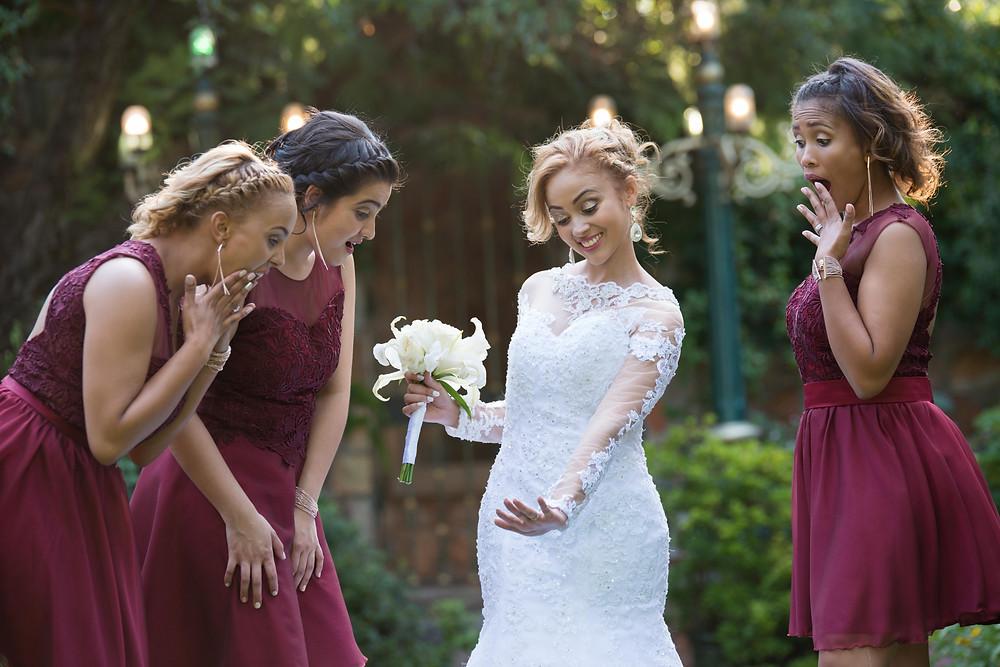 fun bridal party photos