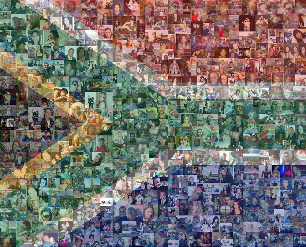 SA Flag Collage