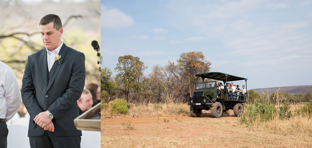 Safari style wedding photos