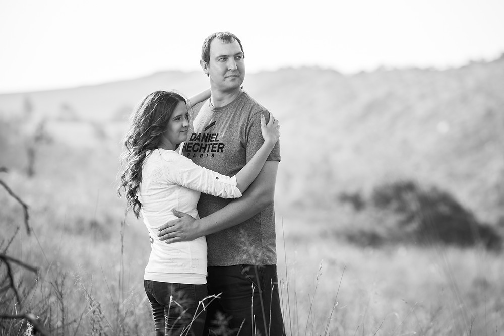 black and white engagement shoot ideas
