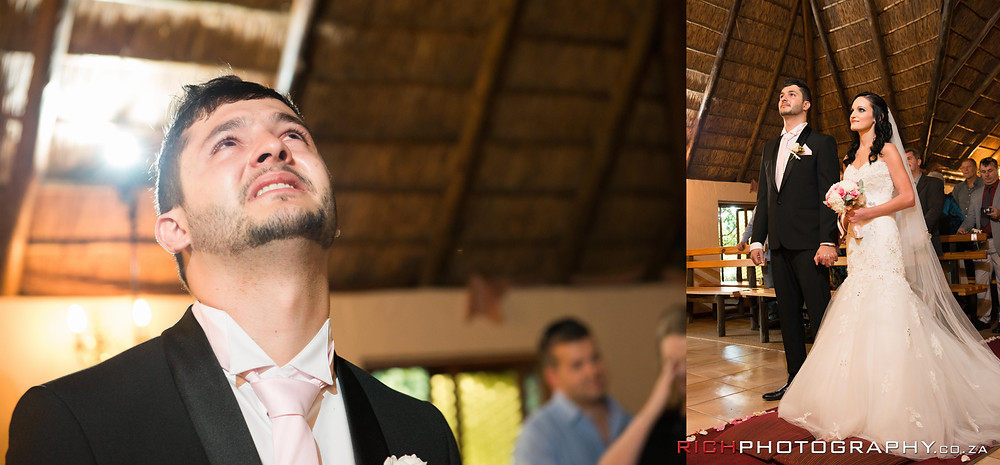 the grooms reaction