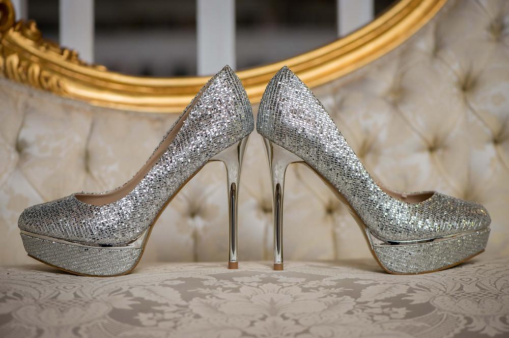 wedding bling heels