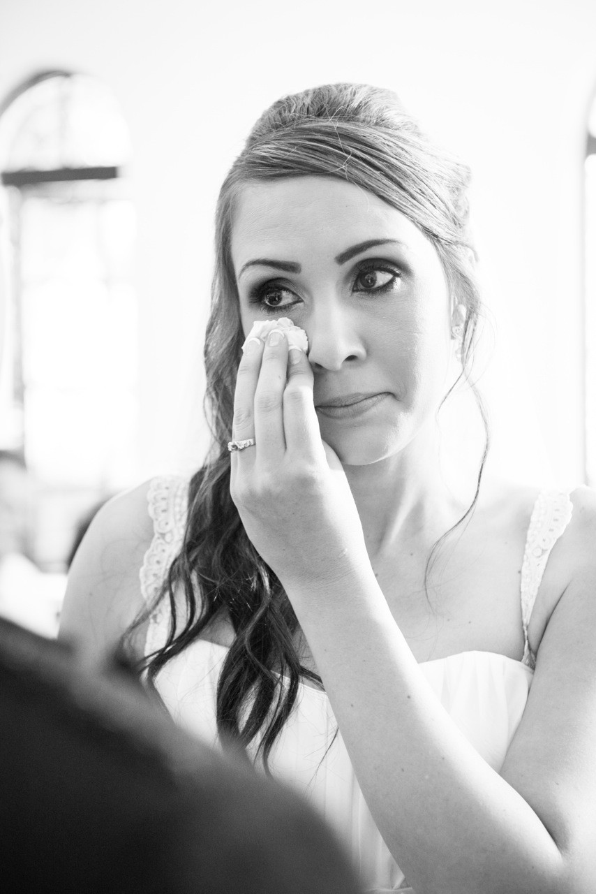 wedding day tears