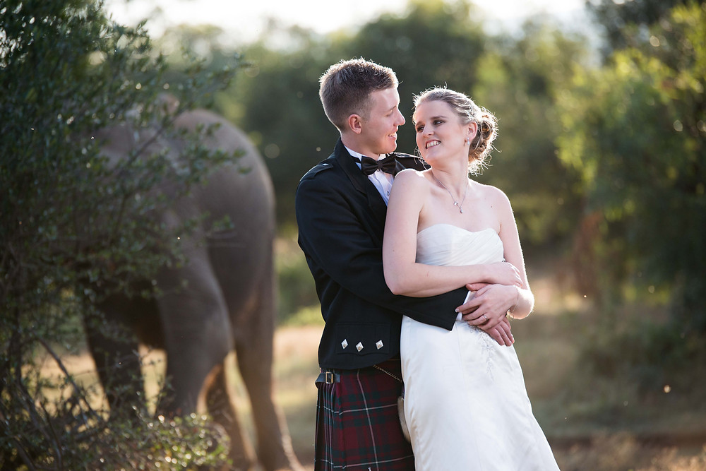 safari wedding photos