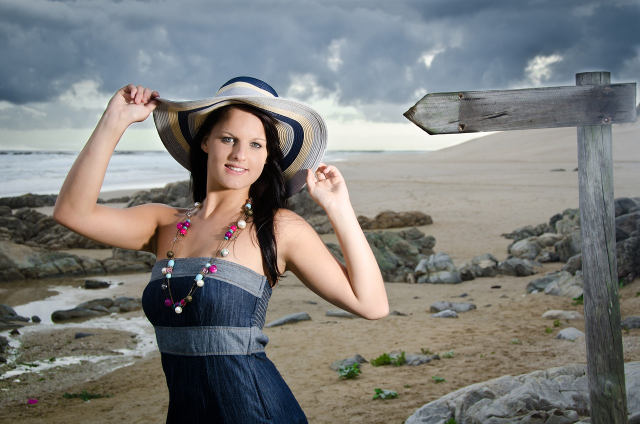 Summer dress, summer hat