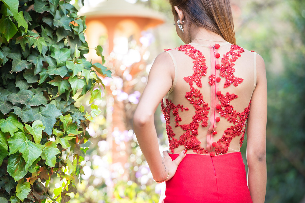 red matric farewell dress