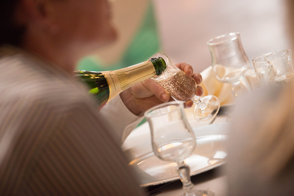 wedding champagne and toasts