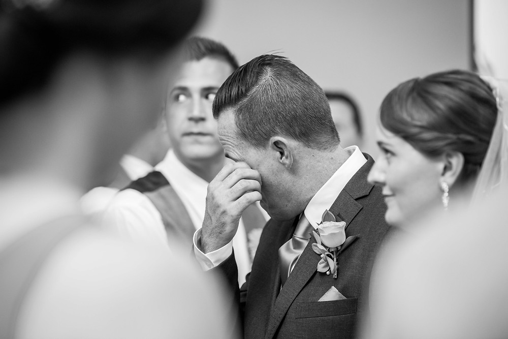 wedding emotions and tears