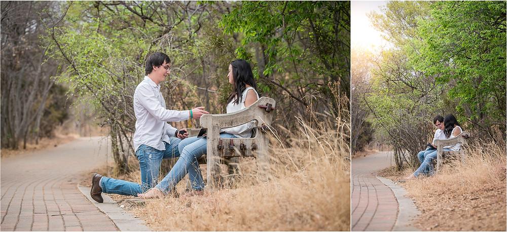 engagement shoot at botanical gardens