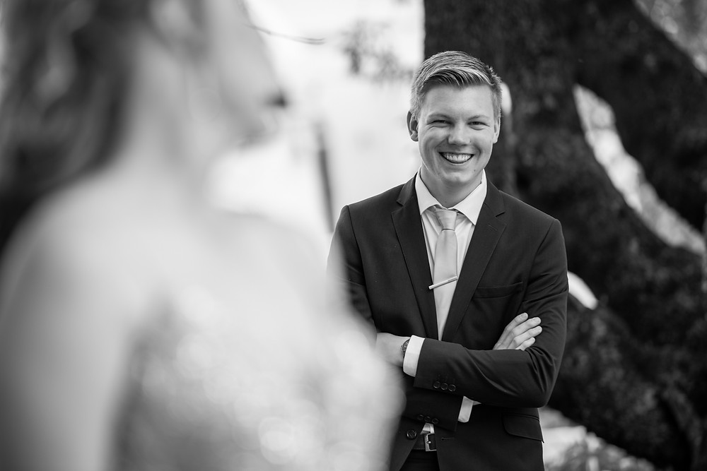 black and white matric farewell photo