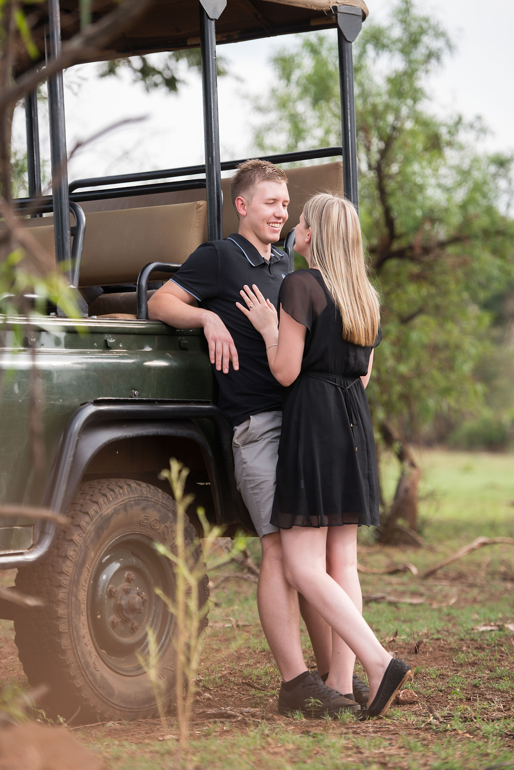 engagement photo shoot at Glen Afric
