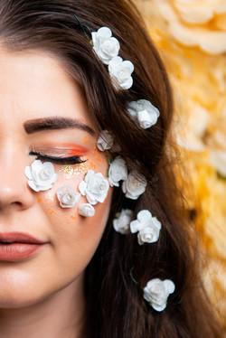 Flower inspired fashion photo shoot