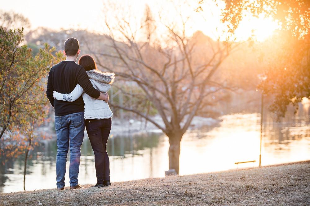 Sunset couple shoot