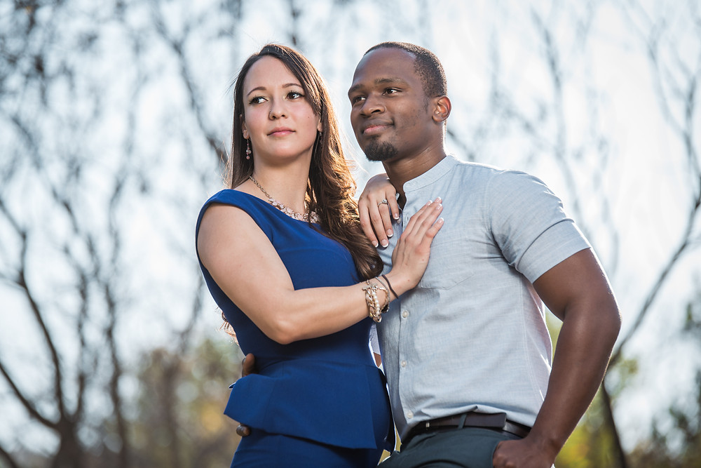 A couples first engagement shoot