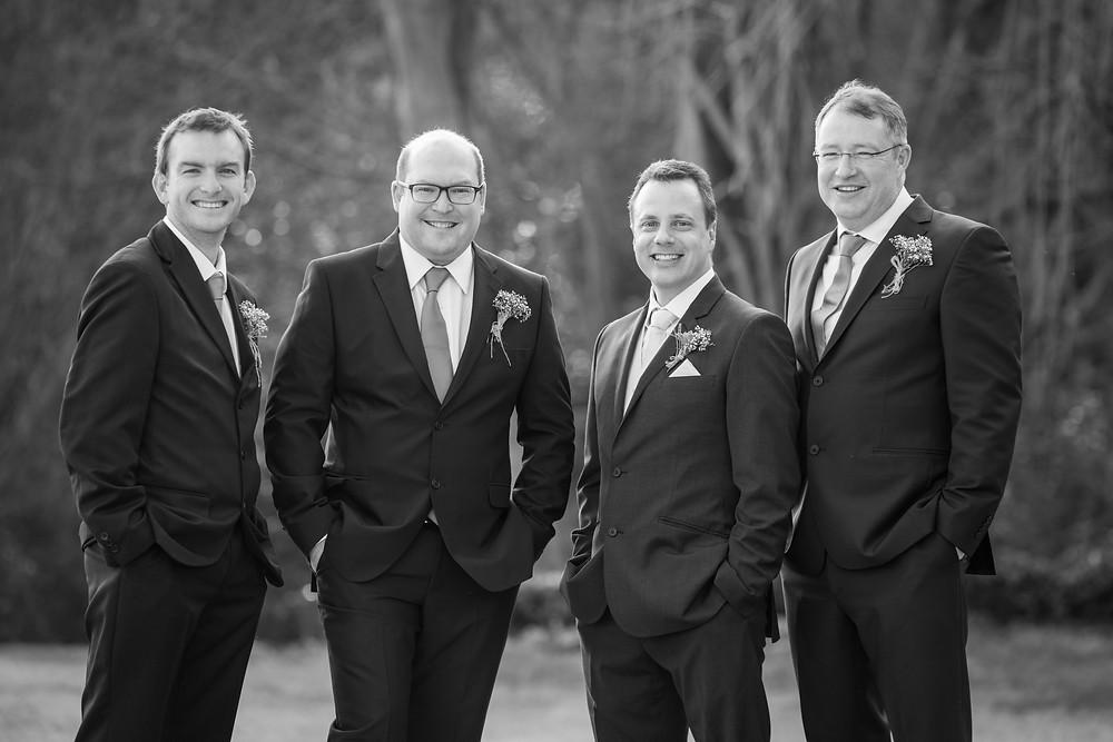 black and white groomsmen photos
