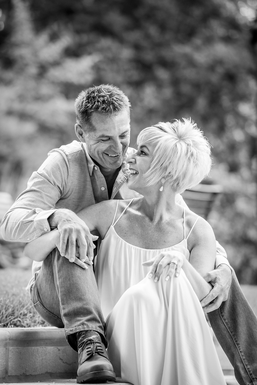 Black and white pre wedding shoot