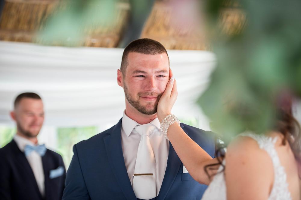 wedding ceremony at hertford lodge