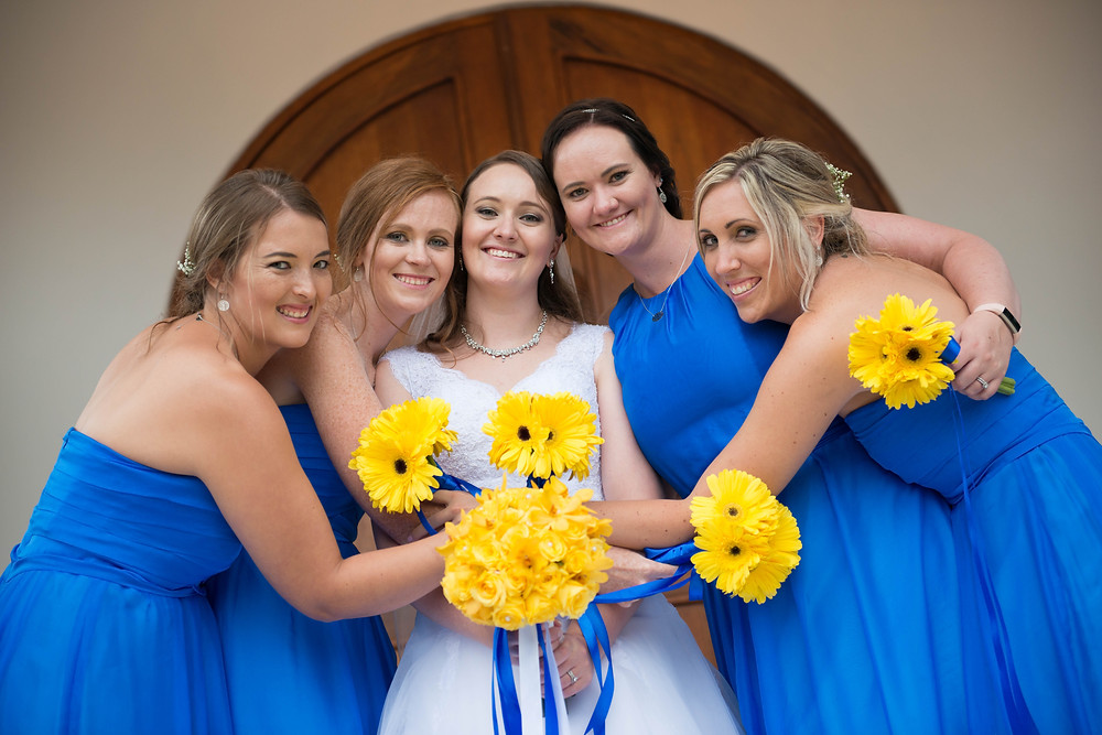 the bridal party at destiny lodge