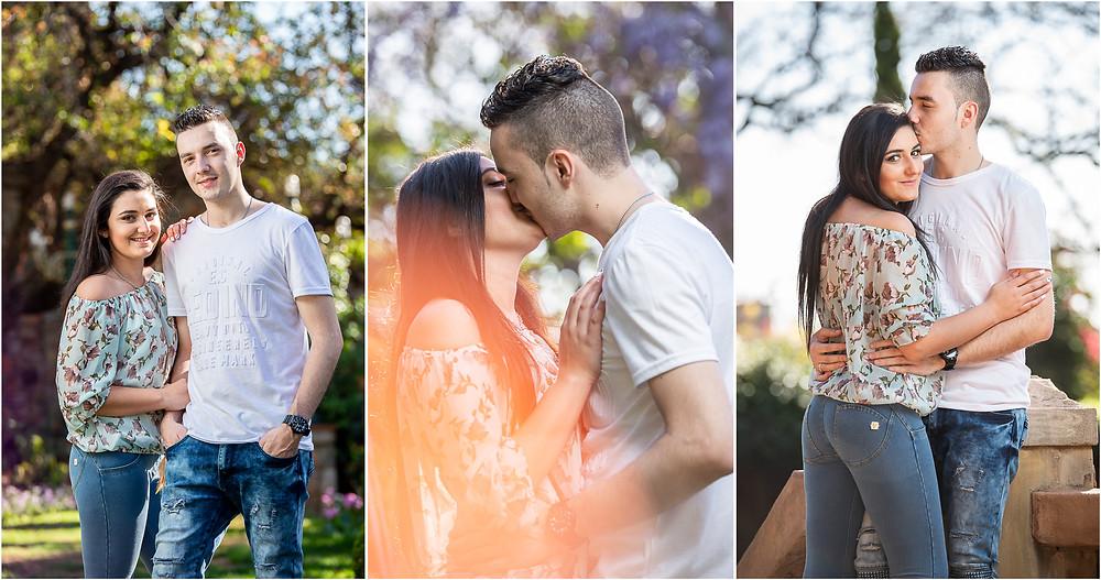 couple photo shoot at Shepstone Gardens