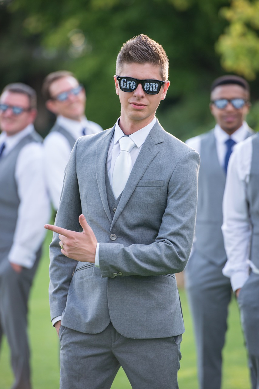 Groom sunglasses