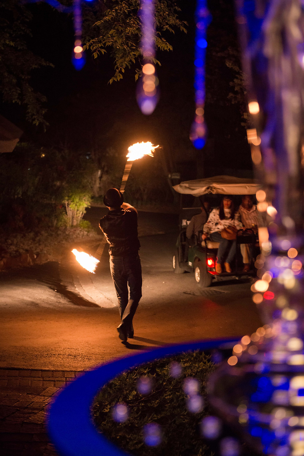 fire entertainment at Mount Grace Hotel