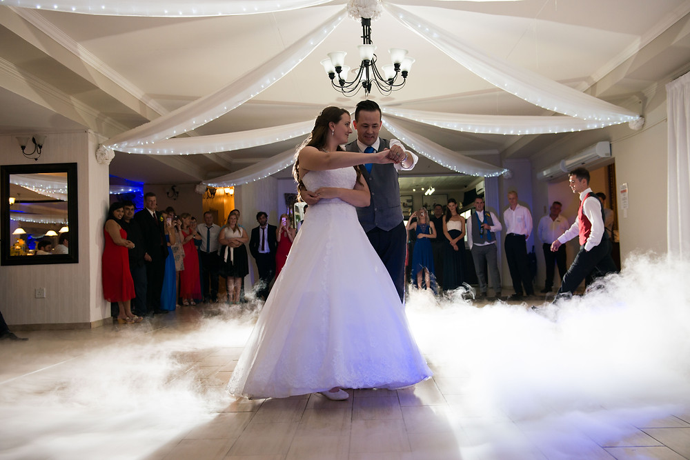 Wedding dance with dry ice