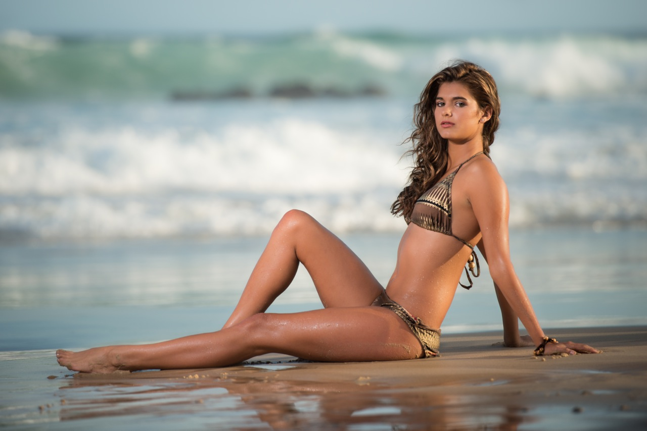 Gorgeous bikini model