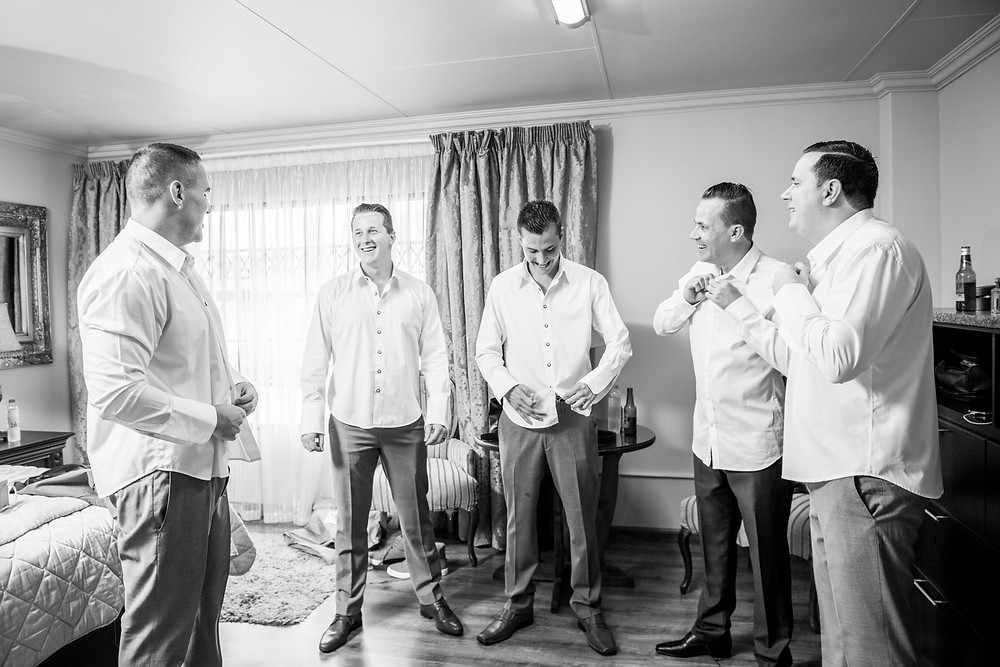 bestmen and the groom