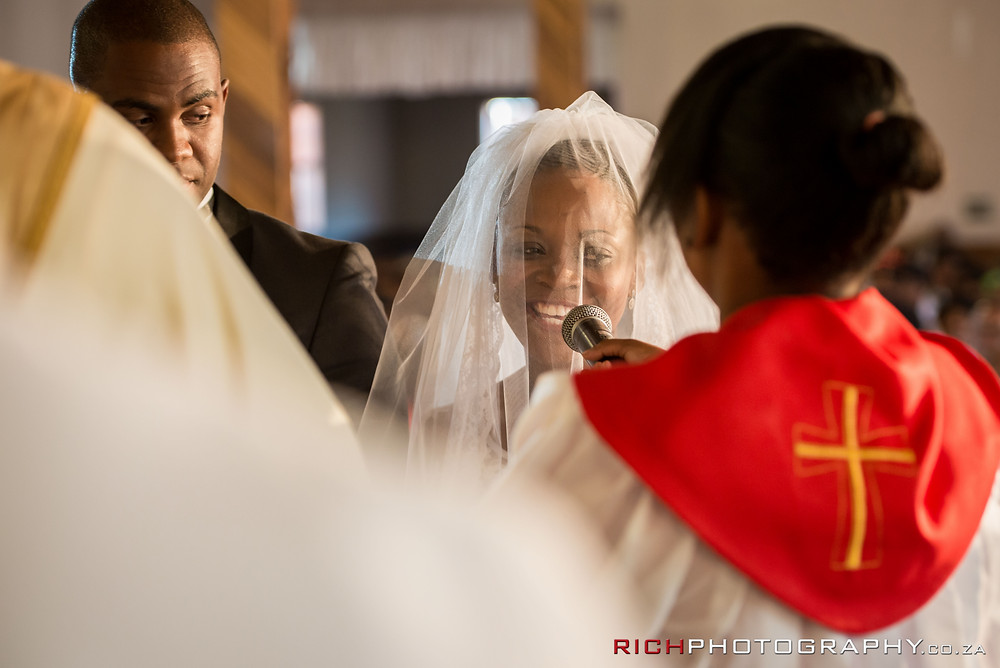 wedding vows captured by Rich Photography