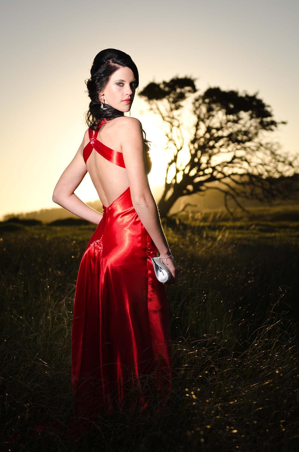 red dress matric farewell