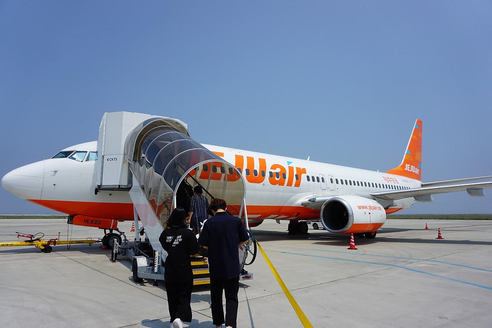 関空から務案国際空港 Jeju航空