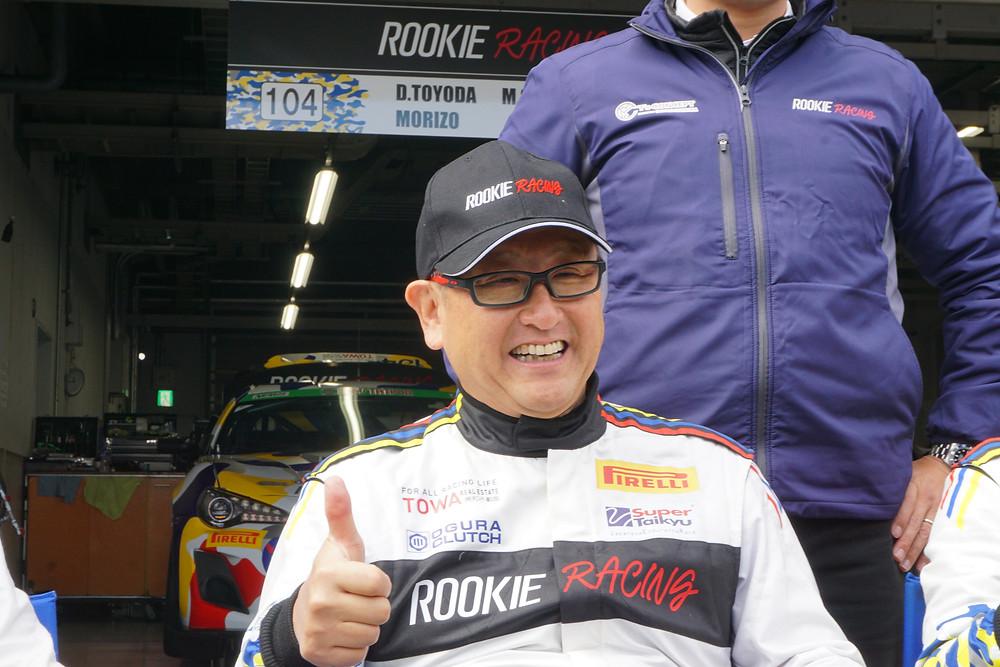 MORIZO選手(豊田 章男 社長)トヨタ自動車 スーパー耐久 ROOKIE Racing