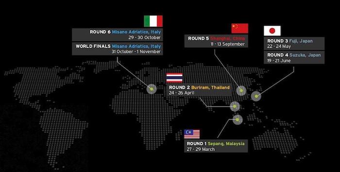 ランボルギーニ・スーパートロフェオ・アジアの2020年度カレンダーが変更。韓国戦がなくなり、タイ戦が加わる。