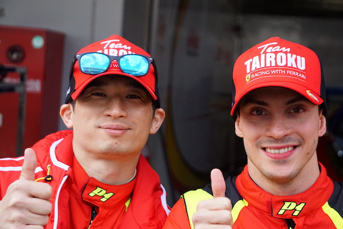 TAIROKU RACING Ferrari 488 GT3 山口大陸選手とニコラス・コスタ選手